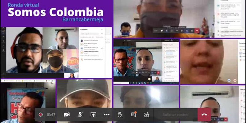 """Con éxito se cumplió Ronda Virtual """"Somos Colombia"""""""